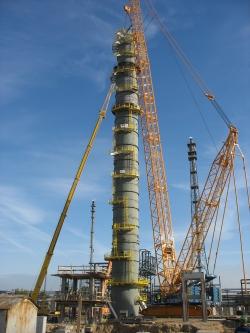 Kolumna 1C1 dla instalacji Paraksylenu w Płocku (średnica 6500mm i wysokość 75m)